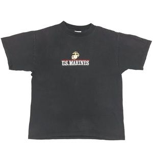 VTG U.S. Marines Embroidered T-Shirt Mens Large